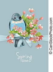 Vector floral spring card