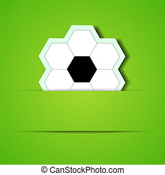 Vector football background with place for your text. Eps10