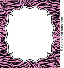 vector frame with abstract zebra skin texture