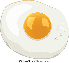 vector illustration of fried egg