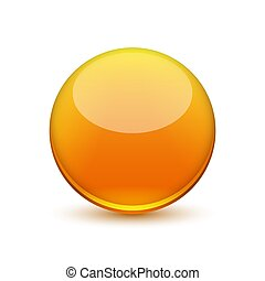 Vector glossy ball.