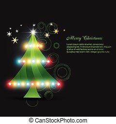 vector glowing christmas tree