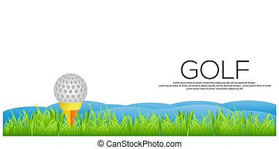 Vector Golf background. Golf stock banner