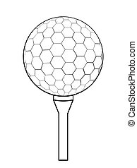Vector golf ball icon. Flat illustration of golf ball for web design, logo, icon, app, UI. Isolated on white.