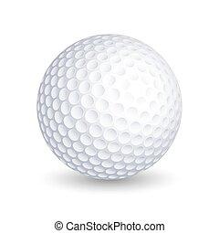 Vector golf ball on white background