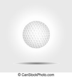 Vector golf ball on white background with shadow