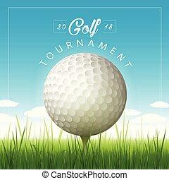 Vector golf tournament background