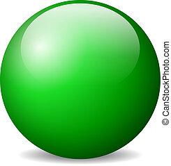 Vector green ball