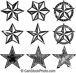 Vector Grunge Stars