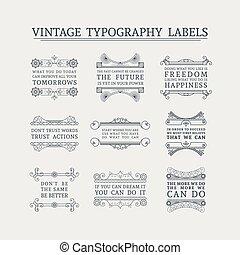 Vector headline calligraphic decorations set