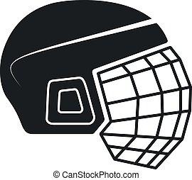 Hockey Helmet Icon, Vector Illustration