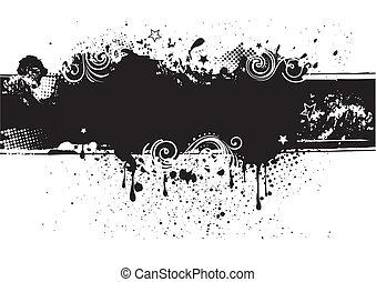 grunge ink background, abstract design element