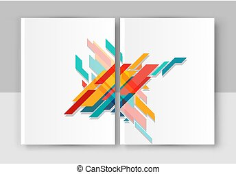 Vector illustration of a brochure template. Modern booklet, flyer, cover business report. Abstract, geometrical elements for business design.