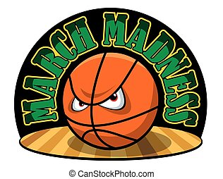 Vector illustration of a March Madness logo.