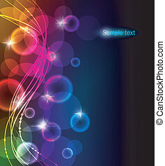 Vector illustration of Abstract color glowing background