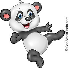 Adorable baby panda isolated