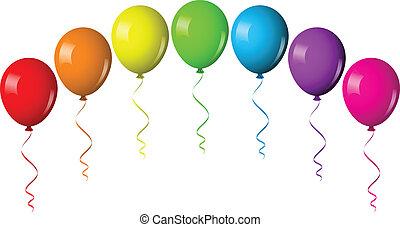 Vector illustration of balloon arch