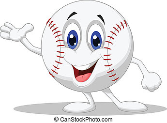 Baseball ball cartoon character