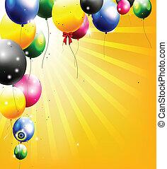 birthday background with balloon