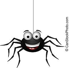 vector illustration of black spider