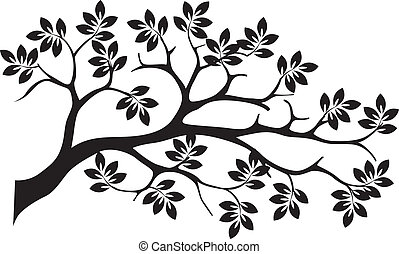 black tree silhouette isolated