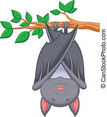 Cartoon bat sleeping