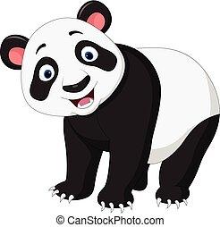 Cartoon happy panda