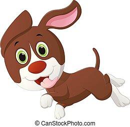 cute dog cartoon running