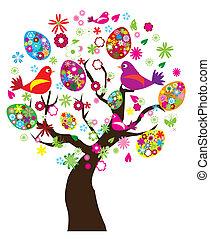 Vector illustration of Easter tree