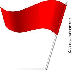Vector illustration of flag