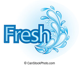 Fresh and Water Label vector