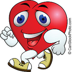 Vector Illustration Of Heart carton exercise