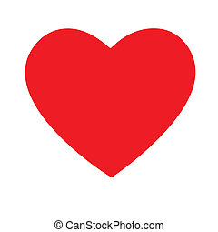 vector illustration of red heart