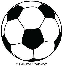 Soccer Ball Silhouette Isolation
