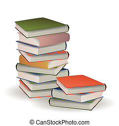 Vector Illustration of Stacked Books