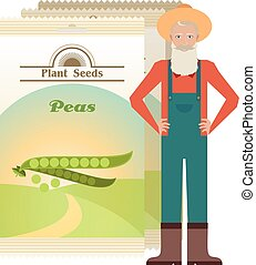 Pack of Peas seeds icon
