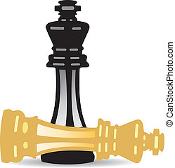 vector illustration of king checkmate