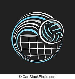 Vector logo for Volleyball