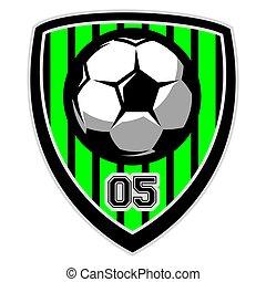 Vector logo template with soccer ball