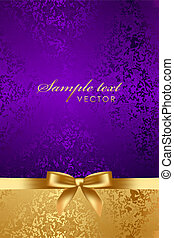 Vector luxury background with gold bow