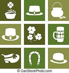 Vector modern flat color design icon on Saint Patricks Day