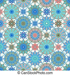 Vector Moroccan Seamless Pattern.