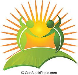 Vector of healthy life nature logo