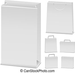 Vector paper bags on white background