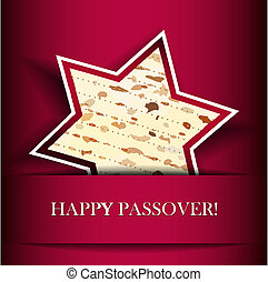 Passover card with matza