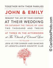 Vector Pastel Bouquet Wedding Invitation