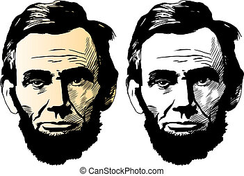Vector portrait of Abraham Lincoln, 16th President of the United States