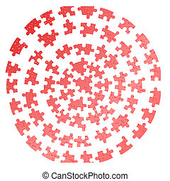Water drops. A puzzle on a white background. Vector illustration