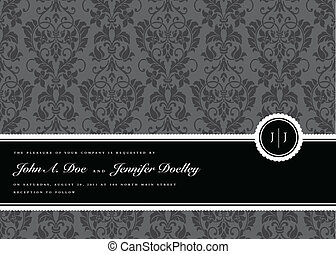 Vector Ribbon Frame and Background. Easy to edit. Perfect for invitations or announcements.