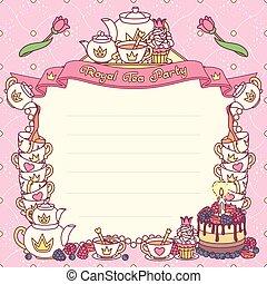 vector Royal tea party template